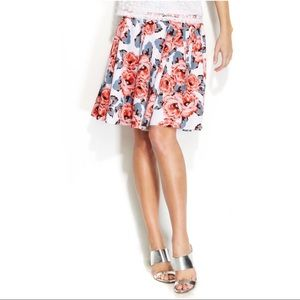 NEW Above Knee Skirt Fit Flare Roses Plus Size 18W
